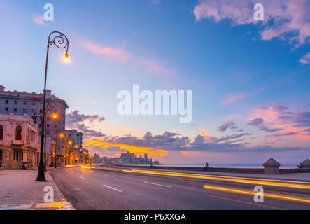 Cuba, Havana, The Malecon - Stock Photo