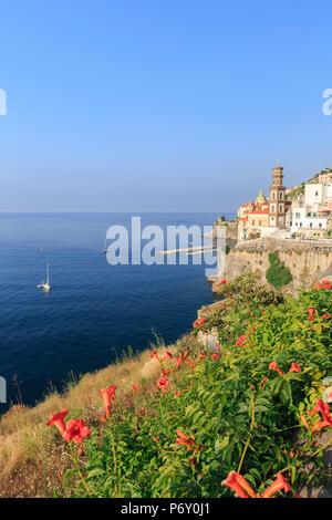 Italy, Campania, Amalfi Coast, Salerno district. Peninsula of Sorrento. Atrani. - Stock Photo