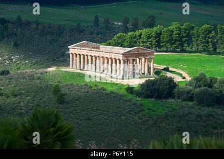 Segesta Temple, Segesta, Sicily - Stock Photo