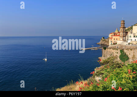 Italy, Campania, Amalfi Coast, Salerno district. Peninsula of Sorrento. Atrani. - Stock Photo