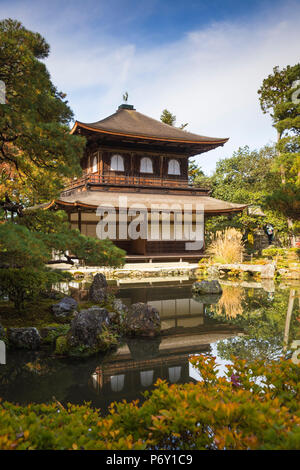 Japan, Kyoto, Ginkakuji Temple, Silver Pavilion - A World Heritage Site - Stock Photo