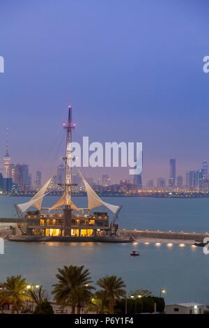 Kuwait, Kuwait City, Salmiya, Marina Waves Leisure complex - a three-storey leisure complex specialising in land and sea activities - Stock Photo