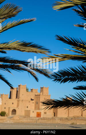 The 17th century Amerhidl kasbah, Skoura, Morocco, RF - Stock Photo