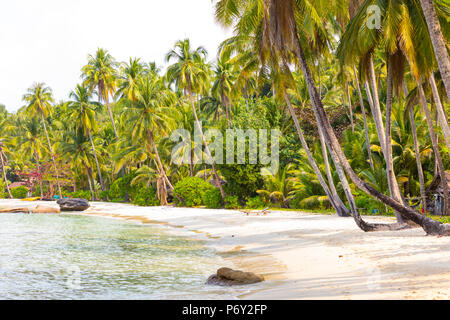 Tropical beach on an Island nr Ko Chang, Thailand - Stock Photo