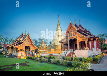 Wat Phra Singh, Chiang Mai, Thailand. - Stock Photo