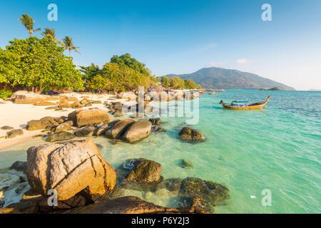 Sunrise Beach, Ko Lipe, Satun Province, Thailand. Coastal landscape. - Stock Photo