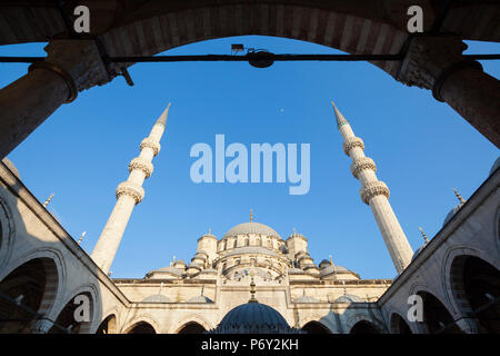 Yeni Cami (New Mosque), Istanbul, Turkey - Stock Photo
