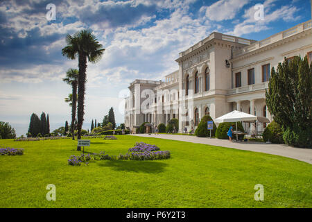 Ukraine, Crimea, Livadia Palace, location of the Yalta conference in 1945talks took place with Stalin from USSR, Roosevelt from USA and Churchill from Great Britain - Stock Photo