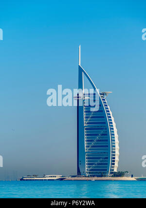 Burj Al Arab Luxury Hotel, Dubai, United Arab Emirates - Stock Photo