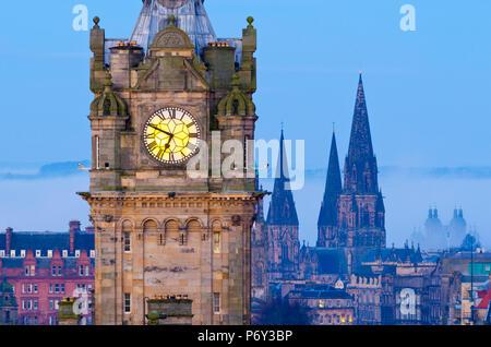 UK, Scotland, Edinburgh, Tower of Balmoral Hotel