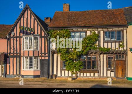 UK, England, Suffolk, Lavenham, Market Lane - Stock Photo