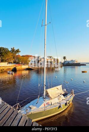 Uruguay, Colonia Department, Colonia del Sacramento, View from the Wharf in the historic quarter. - Stock Photo