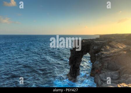 USA, Hawaii, The Big Island, Hawaii Volcanoes National Park, South Coast - Stock Photo