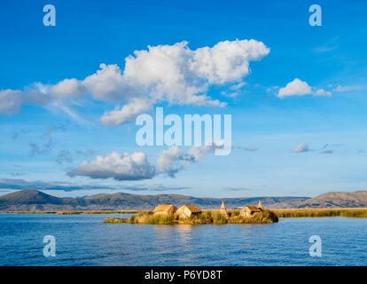 Uros Floating Island, Lake Titicaca, Puno Region, Peru - Stock Photo