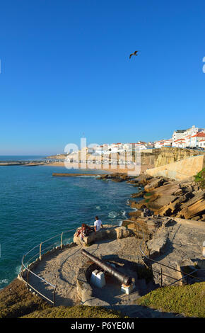 The village of Ericeira overlooking the Atlantic Ocean. Portugal (MR) - Stock Photo
