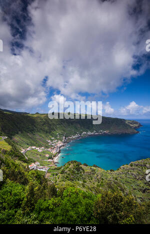 Portugal, Azores, Santa Maria Island, Sao Lourenco with the Baia do Sao Lourenco bay - Stock Photo