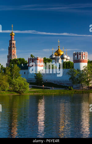 Russia, Moscow Oblast, Moscow, Khamovniki-area, Novodevichy Monastery, late afternoon - Stock Photo