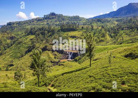 Sri Lanka, Nuwara Eliya, St Clair Waterfall - Stock Photo