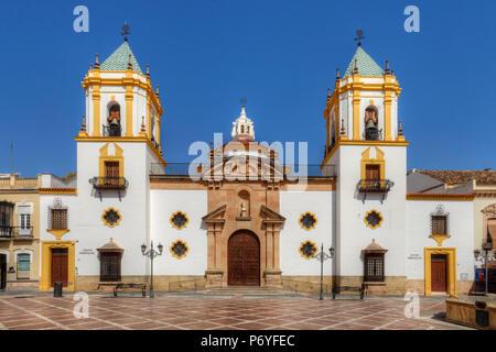The Socorro Church in Ronda at Plaza del Socorro, Andalusia, Spain - Stock Photo