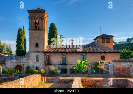 Convent of San Francisco, Alhambra, UNESCO World Heritage Site, Granada, Spain - Stock Photo