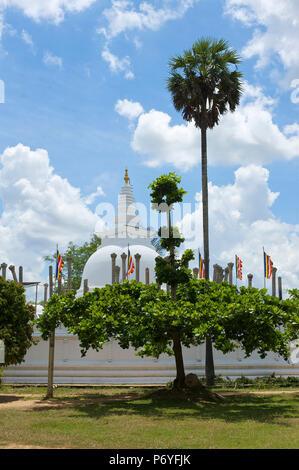 Ruvanvelisaya Dagoba, Anuradhapura, (UNESCO World Heritage Site), North Central Province, Sri Lanka - Stock Photo
