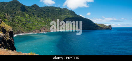 Crane viewpoint nr Faial on the North East coast of Madeira - Stock Photo