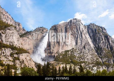 Upper Yosemite fall, Yosemite National Park, California, USA - Stock Photo