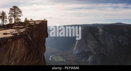 Taft point,  Yosemite National Park, California, USA - Stock Photo