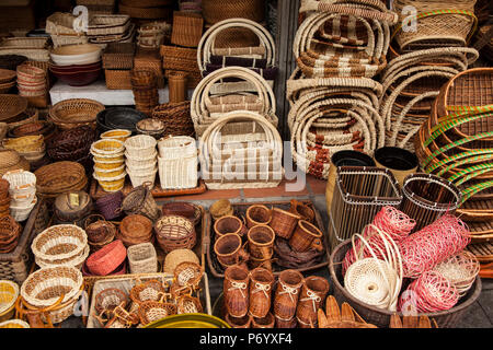 Market in the Old Quarter, Hanoi, Vietnam - Stock Photo