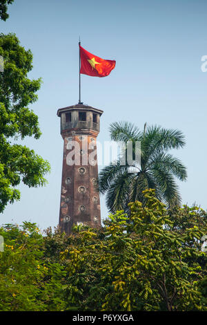 Flag Tower, Vietnam Military History Museum, Ba Dinh district, Hanoi, Vietnam - Stock Photo