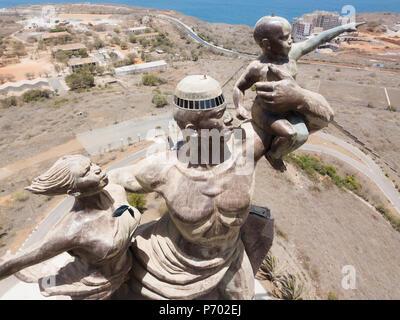 Statue dedicated to independence, Dakar, Senegal - Stock Photo