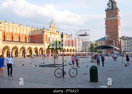 Cloth Hall in the Main Square, Krakow, Poland,Europe. - Stock Photo