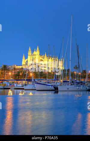 Spain, Balearic Islands, Mallorca, Palma de Mallorca, Cathedral - Stock Photo