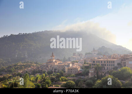 Spain, Balearic Islands, Mallorca, Valldemossa Mountain Village - Stock Photo