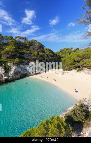 Spain, Balearic Islands, Menorca, Cala Macarelleta - Stock Photo