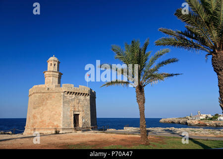Spain, Balearic Islands, Menorca, Ciutadella, Old Town, Sant Nicolau Castle - Stock Photo