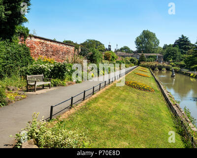 Walled garden in Roundhay Park Roundhay Leeds West Yorkshire England - Stock Photo