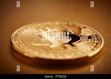 Golden Bitcoin - Stock Photo