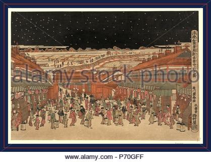 Ukie Wakoku No Keiseki Shin Yoshiwara Nakanocho Zu Perspective Picture Of Famous Places