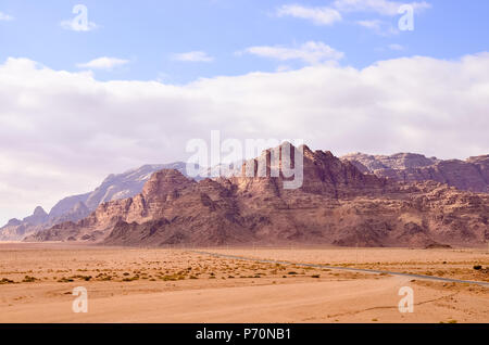 Red sand desert. Inspire the nature of the beauty scenery in desert - Stock Photo