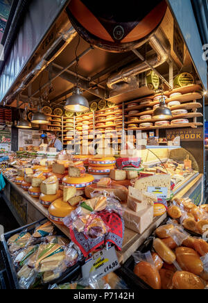 Market Hall, interior, Rotterdam, South Holland, The Netherlands, Europe - Stock Photo