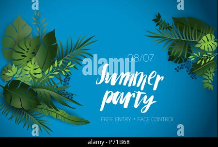 Summer vibes party - Stock Photo