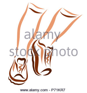 Legs of a running man in sports shoes - Stock Photo