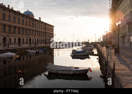 City of Trieste Canal Grande Italy - Stock Photo