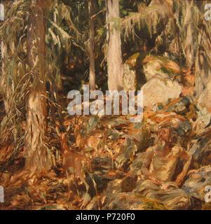 .  English: The Hermit Italiano: Il solitario  1908 148 John Singer Sargent - The Hermit - Stock Photo
