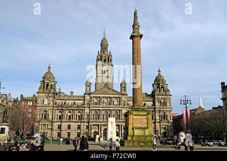 City Chambers, Glasgow City Council, George Square,Scotland, UK - Stock Photo