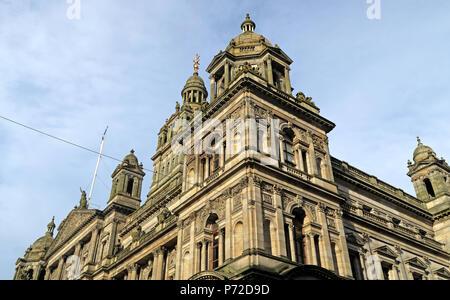 City Chambers, Glasgow City Council, George Square,Scotland, UK - Stock Photo