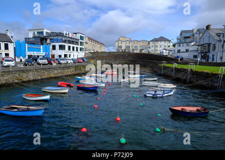 Portrush harbour, County Antrim, Ulster, Northern Ireland, United Kingdom, Europe - Stock Photo