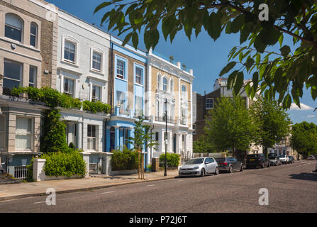 St. Lawrence Terrace, Ladbroke Grove, Kensington and Chelsea, London, England, United Kingdom, Europe - Stock Photo