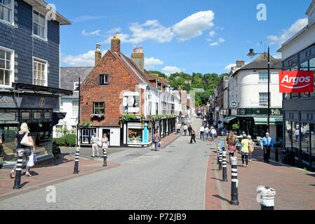 The High Street on a sunny summers day in Lewes East Sussex England UK - Stock Photo